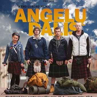 """Filmo """"Angelų Dalis"""" miesto reklamos ClearChannel plakatas. ~4 m aukščio. Užsakovas: Tarptautinis Kauno Kino festivalis"""