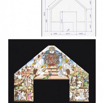 Freskos ant naujos bažnyčios Klaipėdoje kūrimas. Nuo menininkės akvarelinio piešinio iki 15 m aukščio gaminio. Partneris: Povilas Rėklaitis. Užsakovas ir partneris: Ink Idea 15 min: http:/ ...