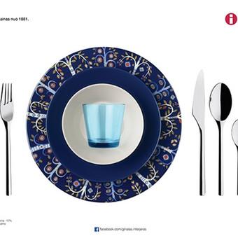 Reklaminis stalo patiesimas restoranams su iittala indais ir stalo įrankiais. V1. Užsakovas: Ginalas interjeras