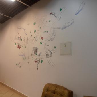 Piešinys ant sienos.
