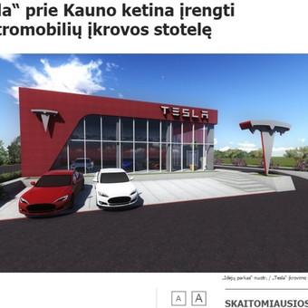 """Mano parengtas pranešimas žiniasklaidai apie JAV kompanijos """"Tesla Motors"""" planus žengti į Lietuvą buvo publikuotas visuose pagrindiniuose šalies naujienų portaluose: DELFI, Lrytas.lt, 15min.l ..."""