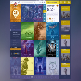 Web dizainas Filmai.in konkursui