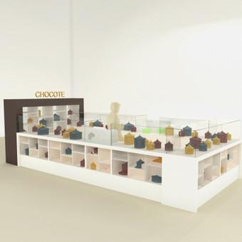 3D vizualizacijos pavyzdys. Smulkus architektūros objektas - prekybinė sala. Užsakovas - privatus asmuo.