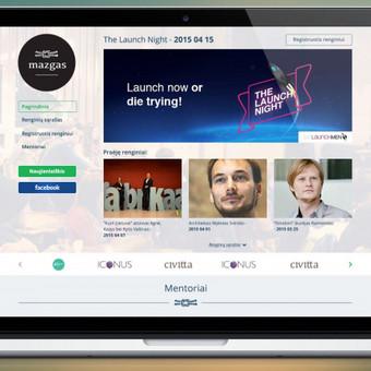 www.mazgas.org tinklapio dizainas