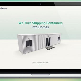 """www.sc-containers.com   Kliento prašymu reikėjo sukurti """"one-page"""" stiliaus minimalistinį, švarų dizainą interneto svetainei. Taip pat pritaikyti mobiliesiems įrenginiams. Sprendimo vizualizac ..."""