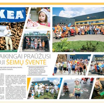 Surengta IKEA Indsutry Lietuva šventė darbuotojams, parengtas vidinis laikraštis.