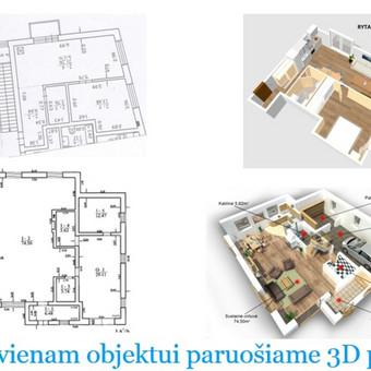 Kiekvienam objektui paruošiame 3D planą