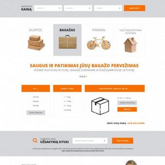 Siuntų pervežimo kompanijos svetainės dizainas