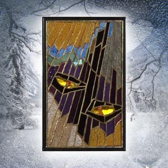 Vitražo miniatiūra. Kabinama ant lango Akys II