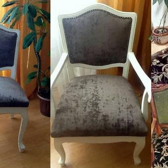 Senos kėdės prikeltos naujam gyvenimui