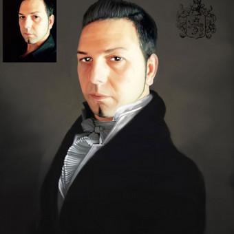 portretu kurimas ant drobes , matnenis 60x80 cm. kaina 80eur.