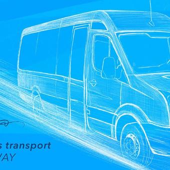 Keleivių vežimas Klaipėda - Passengers Transport on the Way / Arūnas Rupšlaukis / Darbų pavyzdys ID 393813