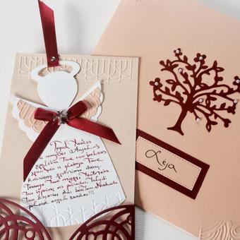 Vestuvių, krikštynų atvirukai, stalo kortelės, kvietimai / Rasa Lazdauskaitė / Darbų pavyzdys ID 394485