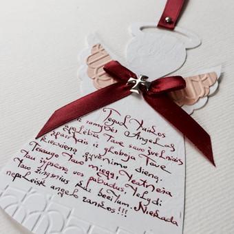 Vestuvių, krikštynų atvirukai, stalo kortelės, kvietimai / Rasa Lazdauskaitė / Darbų pavyzdys ID 394489