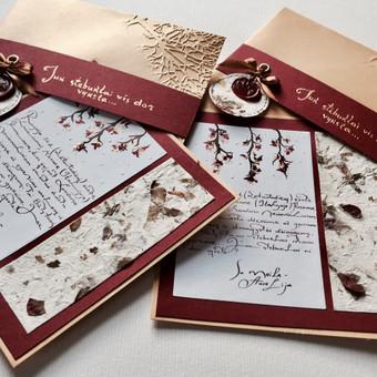 Vestuvių, krikštynų atvirukai, stalo kortelės, kvietimai / Rasa Lazdauskaitė / Darbų pavyzdys ID 394543