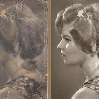 Restauracija. 1977 m. pirmosios vietos šukuosenų konkurse laimėtoja