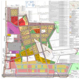 """Objektas – Radviliškio miesto rytinės dalies II rajono išplanavimo detalusis planas Autoriai – A. Jašinas (UAB """" Geometra"""")"""