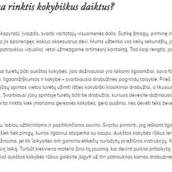 Tekstų kūrėja Klaipėdoje / Jolita Milkerytė / Darbų pavyzdys ID 400623
