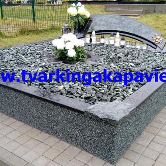Paminklai, antkapiai, granito plokštės, kapų tvarkymas / TVARKINGA KAPAVIETĖ / Darbų pavyzdys ID 401871