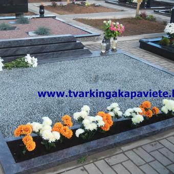 Paminklai, antkapiai, granito plokštės, kapų tvarkymas / TVARKINGA KAPAVIETĖ / Darbų pavyzdys ID 401879