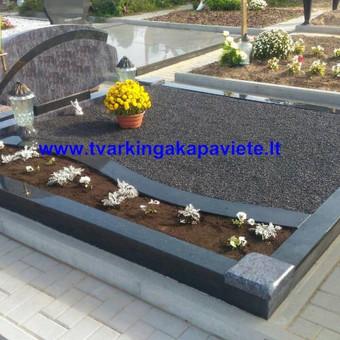 Paminklai, antkapiai, granito plokštės, kapų tvarkymas / TVARKINGA KAPAVIETĖ / Darbų pavyzdys ID 401881