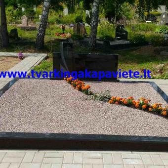 Paminklai, antkapiai, granito plokštės, kapų tvarkymas / TVARKINGA KAPAVIETĖ / Darbų pavyzdys ID 401889