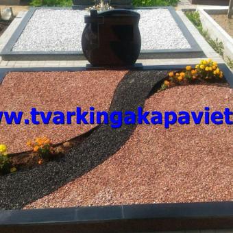 Paminklai, antkapiai, granito plokštės, kapų tvarkymas / TVARKINGA KAPAVIETĖ / Darbų pavyzdys ID 401893