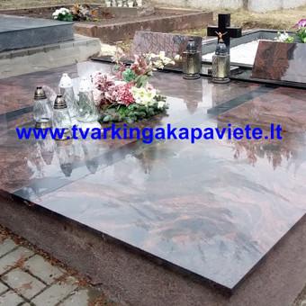 Paminklai, antkapiai, granito plokštės, kapų tvarkymas / TVARKINGA KAPAVIETĖ / Darbų pavyzdys ID 401899