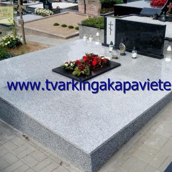 Paminklai, antkapiai, granito plokštės, kapų tvarkymas / TVARKINGA KAPAVIETĖ / Darbų pavyzdys ID 401901