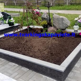 Paminklai, antkapiai, granito plokštės, kapų tvarkymas / TVARKINGA KAPAVIETĖ / Darbų pavyzdys ID 401907
