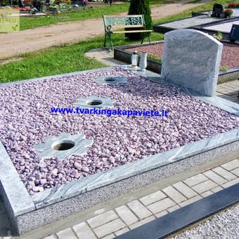 Paminklai, antkapiai, granito plokštės, kapų tvarkymas / TVARKINGA KAPAVIETĖ / Darbų pavyzdys ID 401909