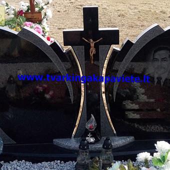 Paminklai, antkapiai, granito plokštės, kapų tvarkymas / TVARKINGA KAPAVIETĖ / Darbų pavyzdys ID 401925