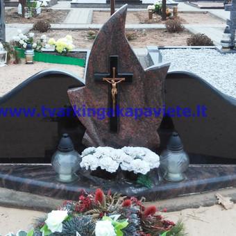 Paminklai, antkapiai, granito plokštės, kapų tvarkymas / TVARKINGA KAPAVIETĖ / Darbų pavyzdys ID 401937