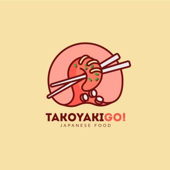 TakoyakiGo! - Japanese Food   |   Logotipų kūrimas - www.glogo.eu - logo creation.