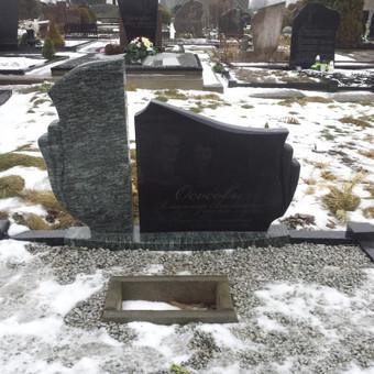 Paminklai, antkapiai, granito plokštės kapo dengimui . . / Anicetas Senulis / Darbų pavyzdys ID 409029