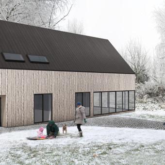 Skandinaviško stiliaus individualus gyvenamasis namas