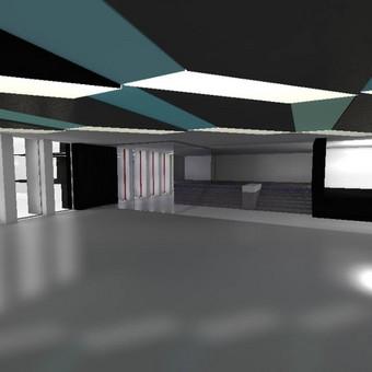 Kultūros rūmų diskotekų salės vizualizacija