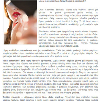 Tekstų kūrėja Klaipėdoje / Jolita Milkerytė / Darbų pavyzdys ID 64179