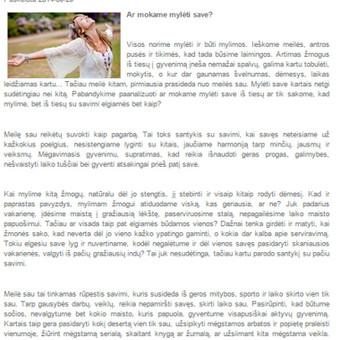 Tekstų kūrėja Klaipėdoje / Jolita Milkerytė / Darbų pavyzdys ID 64180