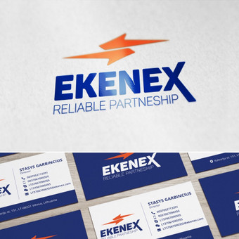 Logotipas ir vizitinė kortelė įmonei užsiimančiai logistika, importu ir eksportu