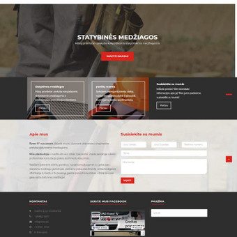 Internetinių svetainių kūrimas / Laimis Barvydas / Darbų pavyzdys ID 427191