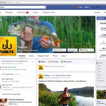 "Facebook puslapio ""KABLYS"" administracija."