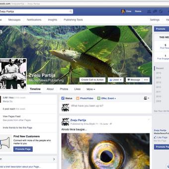 """Facebook puslapio """"Zveju partija"""" administracija."""