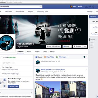 """Facebook puslapio """"Nebūk briedis"""" administracija."""