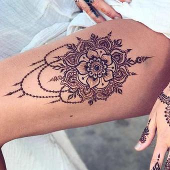 Piešiu laikinas henna chna tatuiruotes Vilniuje / Sigita Žvirgždaitė / Darbų pavyzdys ID 446795