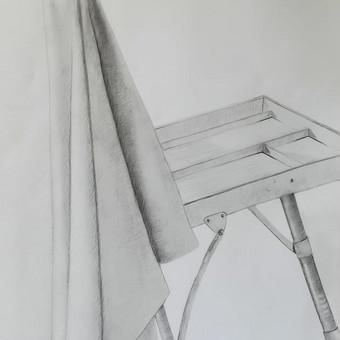 Drapiruotės studija. A2 popierius, pieštukas. 2018m.