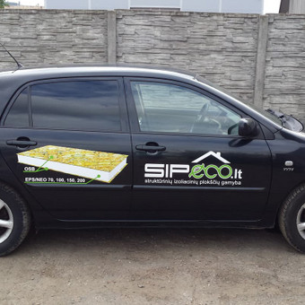 Reklama ant automobilio, lipdukų gamyba, lauko/vidaus reklam / Trigalvis.lt / Darbų pavyzdys ID 451419