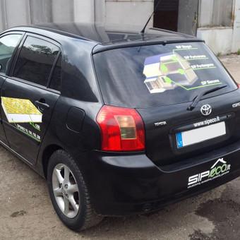 Reklama ant automobilio, lipdukų gamyba, lauko/vidaus reklam / Trigalvis.lt / Darbų pavyzdys ID 451421
