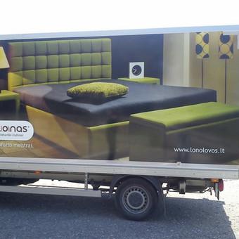 Reklama ant automobilio, lipdukų gamyba, lauko/vidaus reklam / Trigalvis.lt / Darbų pavyzdys ID 451425