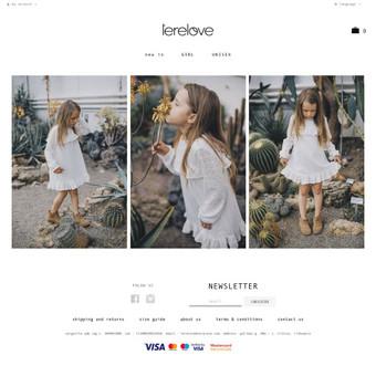 Internetinė vaikiškų drabužių parduotuvė.